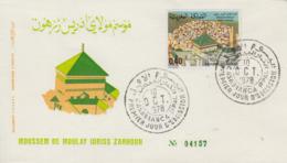 Enveloppe  FDC  1er  Jour   MAROC    Moussem  De   MOULAY  IDRISS  ZARHOUN   1978 - Morocco (1956-...)