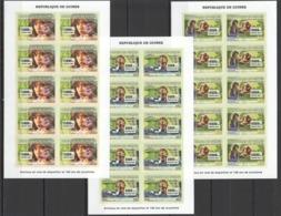 BB030 !!! IMPERFORATE 2007 DE GUINEE FAUNA ENDANGERED ANIMALS DE DISPARITION SCOUTISM 10SET MNH - Briefmarken
