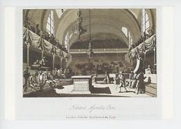 Député Députés : Assemblée Nationale, La Salle Du Manège, Gravure Anglaie Samuel Irland 1790 (cp Vierge) - Histoire