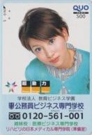 Carte Prépayée Japon - FEMME ** Charge Change Chance ** - GIRL WOMAN Japan Prepaid QUO Card - FRAU - 6291 - Personaggi