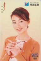 Carte Prépayée Japon - FEMME - GIRL WOMAN Japan Prepaid QUO Card - FRAU - 6292 - Personaggi