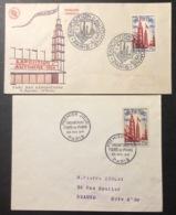 75 Foire De Paris 975 Premier Jour 22/5/1954 Exposition Automne 30/9/1954 Enveloppe FDC Lot 2 Lettre - FDC