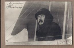 CPSM PHOTO AVIATION - AVIATEUR Maurice FARMAN Autographe ? - TB Plhotographie Aviateur Dans Avion - Aviateurs