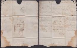 """BELGIQUE LETTRE  DE BRUXELLES 11/07/1829 L.P.B.2.R. """"PAYS-BAS PAR LILLE"""" VERS DOUAY (BE) DC-4640 - 1815-1830 (Dutch Period)"""