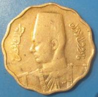ÉGYPTE 10 Millièmes Roi Farouk De Profil AH1357 1938, TB - Egypt