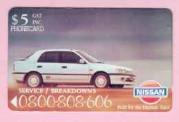 New Zealand - Private Overprint - 1992 Nissan Cars $5 - Mint - NZ-CO-07 - Neuseeland