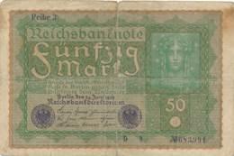 Numismatique -B3729 -Allemagne 50 Mark 1919 ( Catégorie,  Nature état ... Scans)-Envoi Gratuit - [ 3] 1918-1933: Weimarrepubliek