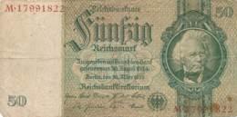 Numismatique -B3729 -Allemagne 50 Reichsmark 1933 ( Catégorie,  Nature état ... Scans)-Envoi Gratuit - [ 4] 1933-1945: Derde Rijk
