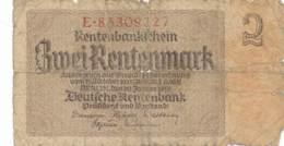 Numismatique -B3729 -Allemagne  2 Rentenmark 1937 ( Catégorie,  Nature état ... Scans)-Envoi Gratuit - [ 4] 1933-1945: Derde Rijk