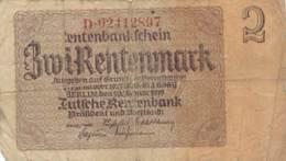Numismatique -B3729 -Allemagne  2 Rentenmark 1937 ( Catégorie,  Nature état ... Scans)-Envoi Gratuit - Sonstige