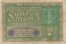 Numismatique -B3729 -Allemagne 50 Mark 1919 ( Catégorie,  Nature,  état ... Scans)-Envoi Gratuit - [ 3] 1918-1933: Weimarrepubliek