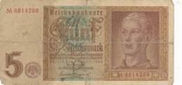 Numismatique -B3729 -Allemagne 5 Reichsmark 1942 ( Catégorie,  Nature,  état ... Scans)-Envoi Gratuit - 5 Reichsmark