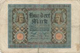 Numismatique -B3729 -Allemagne 100 Mark 1920 (Catégorie,  Nature,  état ... Scans)-Envoi Gratuit - [ 3] 1918-1933 : República De Weimar