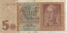 Numismatique -B3729 -Allemagne 5 Reichsmark 1942 ( Catégorie,  Nature,  état ... Scans)-Envoi Gratuit - [ 4] 1933-1945 : Tercer Reich