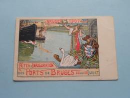 Bruges 1907 - Fêtes D'Inauguration Des Ports De BRUGES 22-28 Juil (Desclée, De Brouwer) Anno 19?? ( Zie/voir Photo ) ! - Brugge