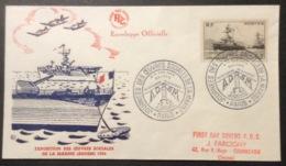 -14 Oeuvres De La Marine 752 Journées Oeuvres Sociales 4-5/12/1954 Enveloppe FDC Lettre - FDC
