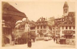 CPA  Suisse,  THUN, Sinnebrücke, Tram, Carte Photo - BE Berne