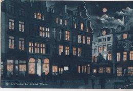 LEUVEN / GROTE MARKT BIJ NACHT  1906 - Leuven