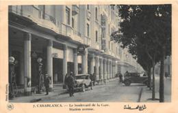"¤¤  -   MAROC   -   CASABLANCA   -  La Boulevard De La Gare  -  Station "" SHELL "" , Pompes à Essence     -  ¤¤ - Casablanca"