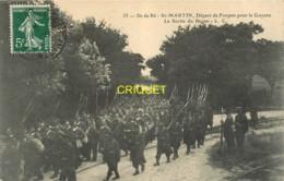 17 Ile De Ré, St Martin, Départ De Forçats Pour La Guyane, La Sortie Du Bagne, N° 2, Affranchie 1908 - Ile De Ré