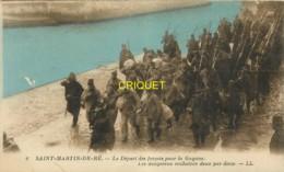17 Ile De Ré, St Martin, Départ De Forçats Pour La Guyane, Les Dangereux Enchainés Deux Par Deux - Ile De Ré