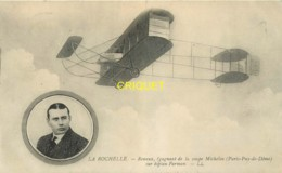 17 La Rochelle, Aviation, Renaux Gagnant De La Coupe Michelin Sur Biplan Farman, Verso Taxé 1911 - La Rochelle