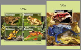 MOZAMBIQUE 2019 MNH Frogs Frösche Grenouilles M/S+S/S - IMPERFORATED - DH1945 - Frogs