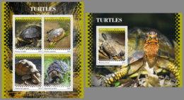SIERRA LEONE 2019 MNH Turtles Schildkröten Tortues M/S+S/S - IMPERFORATED - DH1945 - Turtles