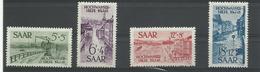 Sarre, N° 244/247 Neufs**  Cote YT 35€ - 1947-56 Allierte Besetzung
