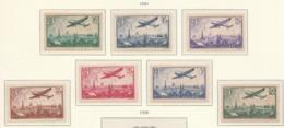 PIA - FRA - 1936 : Aereo Che Sorvola Parigi - (Yv P.A.  8-14) - Aerei