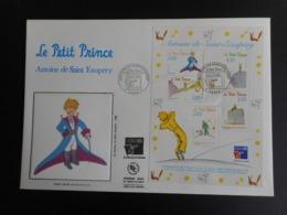 FDC Grand Format - Bloc Le Petit Prince - Antoine De Saint Exupéry , Oblitération 12/9/1998 - 1990-1999