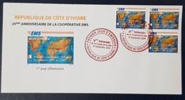 IVORY COAST COTE D'IVOIRE 2019 - FDC -  EMS - UPU JOINT ISSUE COMMON DESIGN EMISSION COMMUNE CONJOINTE - RARE - Emissions Communes