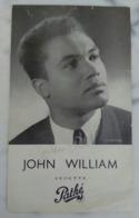 AUTOGRAPHE ORIGINAL JOHN WILLIAM SUR PROGRAMME Vedette Pathé PHOTO STAR  DISQUE CHANTEUR CROONER - Autogramme & Autographen