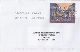 TP N° 5285 SUR LETTRE DE 2018 POUR LES USA - Postmark Collection (Covers)