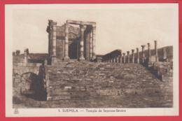 CPA-DJEMILA -Temple De SPTIME-SÉVÈRE- Phototypie Albert, Alger N°3* SUP ** 2 SCANS - Algeria