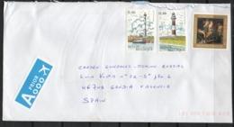 Bélgica. Carta Dirigida A España. Franqueo Con Sellos De Faros. - Bélgica