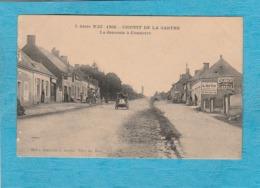 Circuit De La Sarthe, 1906. - La Descente à Connerré. - Connerre
