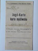 Poland Polsko M43 Jagd Karte Karta Mysliwska 1916 Nowo Aleksandrya Pulawy - Poland