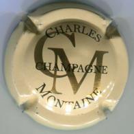 CJ-CAPSULE-CHAMPAGNE CHARLES MONTAINE N°01 Crème, Or Et Noir - Autres