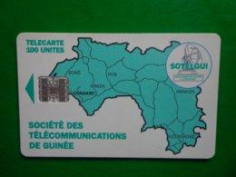 Télécarte Société Des Télécommunications De Guinée 100 Unités, Utilisé Bon état, Traces - Guinea