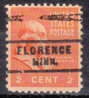 USA Precancel Vorausentwertung Preo, Locals Minnesota, Florence 744 - Vereinigte Staaten