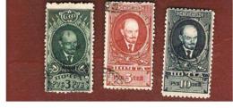 URSS -  SG 850.852   -  1928 V. LENIN  (COMPLET SET OF 3)  - USED °   RIF. CP - 1923-1991 URSS