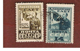 URSS -  SG 538.539   -  1929 ALL-UNION PIONEERS GATHERING   (COMPLET SET OF 2)  - USED °   RIF. CP - 1923-1991 URSS