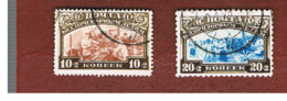 URSS -  SG 536.537   -  1929 CHILD WELFARE   (COMPLET SET OF 2)  - USED °   RIF. CP - 1923-1991 URSS