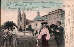 ! Alte Ansichtskarte, Krakau, Krakow, Ringplatz, 1906 - Polen