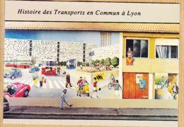 X69245 LYON Histoire Des Transports En Commun Mur Peint Détails 1960-1970 Cité De La Création - Lyon