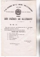 27 - GISORS (Eure) - FRANC MACONNERIE Loge Des Frères De BLANMONT à Gisors. Doc De Convoc Pour Ouv De Travaux 1850 1860 - Unclassified