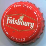 CAPSULE-BIERE-FRA-BRASSERIE KALSBERG HOLDING-FALSBOURG Twist Blanc & Or Fond Rouge - Bier