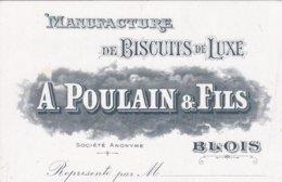 (1)   BLOIS - Biscuits De Luxe E. Poulain § Fils (Petite Carte Commerciale) - Blois