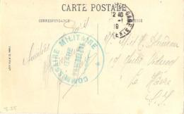 GUERRE 14-18  COMMISSION MILITAIRE GARE D'ANGOULEME - TàD ANGOULEME-GARE CHARENTE Du 22-1-19 - Guerre De 1914-18